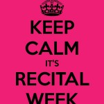 Recital Week!