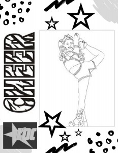Cheer Coloring Page-page-001