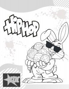 Hip Hop Coloring Page-page-001