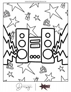 Radio Coloring Page -page-001